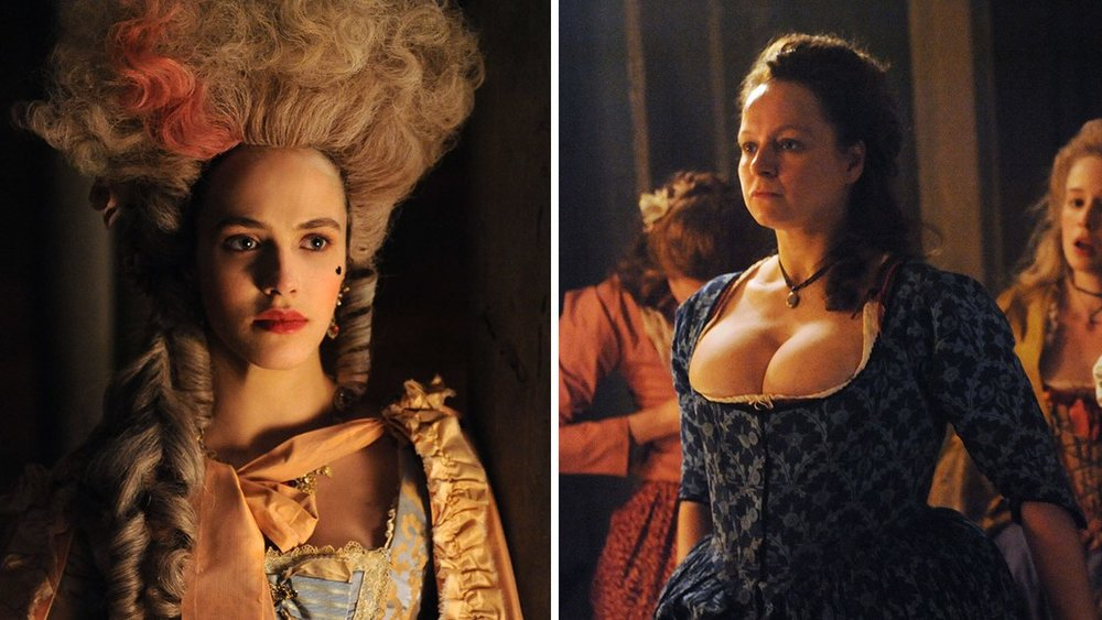 Jessica Brown Findlay and Samantha Morton in, Harlots