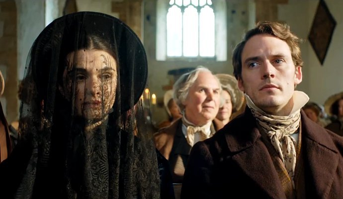 Rachel Weisz and Sam Claifin in, My Cousin Rachel