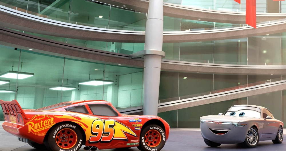 Lightning McQueen and Sterling talk shop in Cars 3