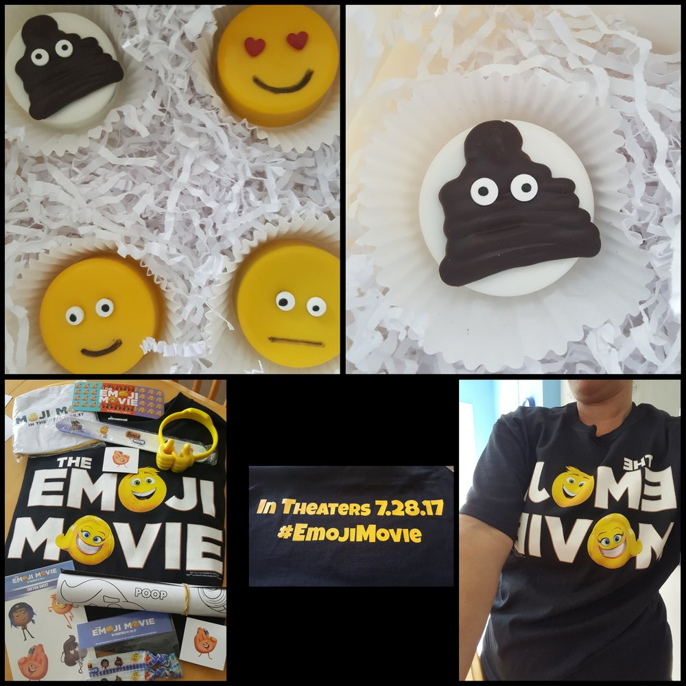 EMOJI goodness from Sony Pictures Canada ( the poop emoji cookie was delicious!)