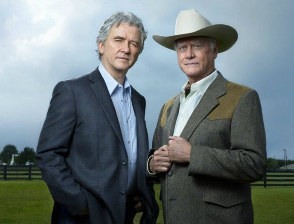 "Patrick Duffy and Larry Hagman in ""Dallas"""