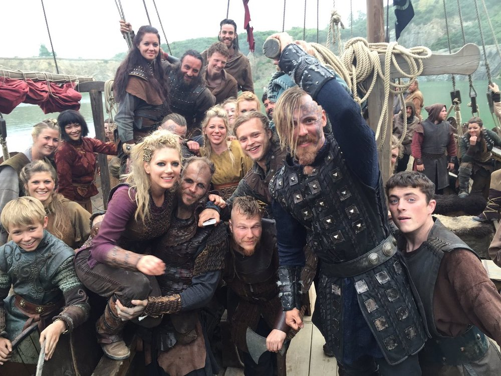 The cast of VIKINGS