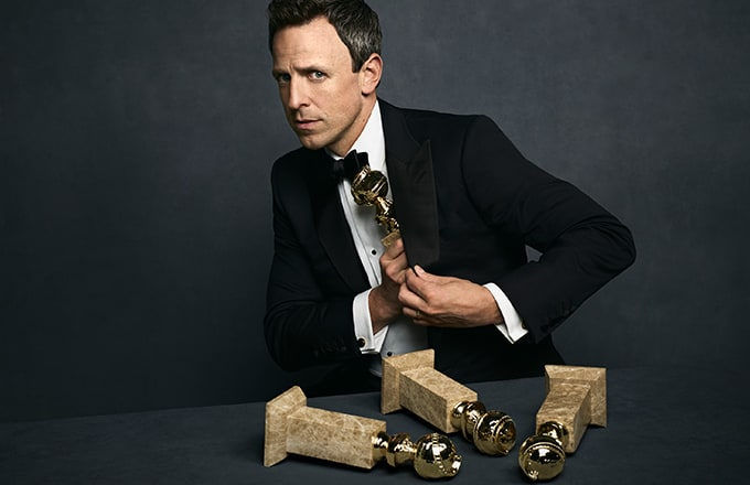 Seth Meyers, host of the 75th Annual Golden Globe Awards