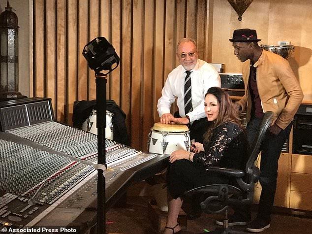 Aloe Blacc with Gloria and Emilio Estefan in Miama, Florida
