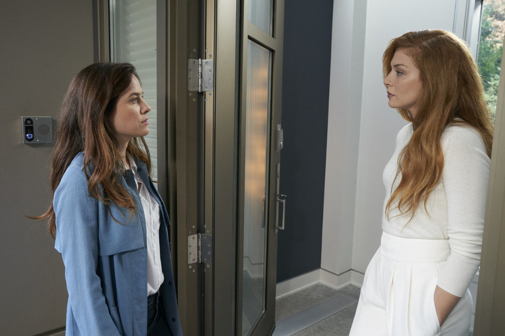 Caroline Dhavernas and Rachelle Lefevre in, Mary Kills People - Season 2