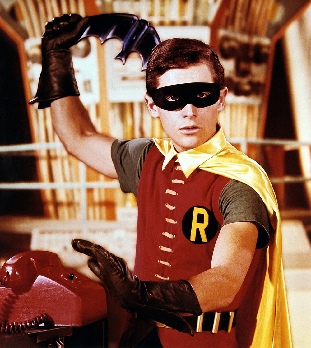 "Burt Ward as his iconic alter ego, ""Robin"""