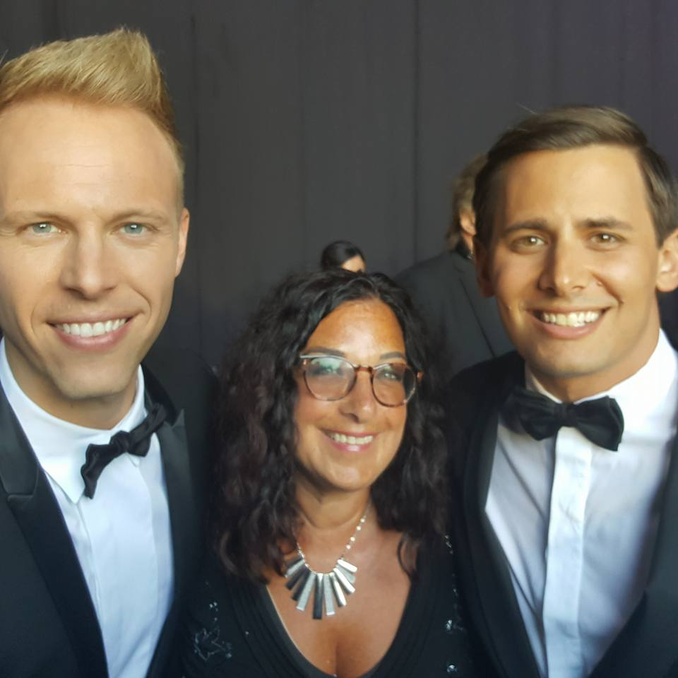With the amazing Pasek and Paul!!! These guys are BRILLIANT!!