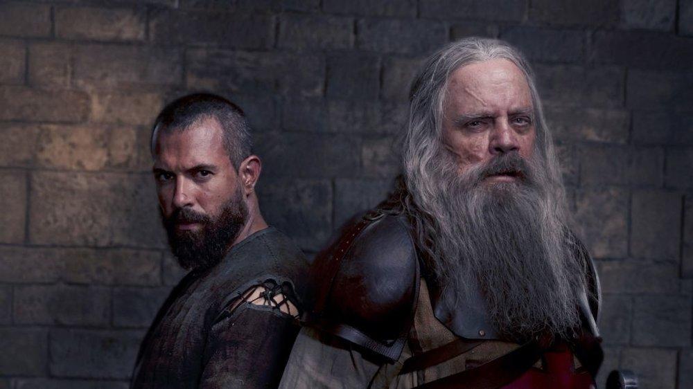 Tom Cullen and Mark Hamill in, Knightfall