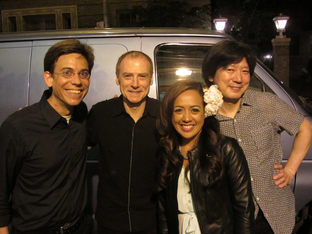 At The 2013 New York Ukulele Festival  – (L to R) Paul Hemmings, Kirk Driscoll, Raiatea Helm, and Gaku Takanashi.