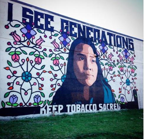 Massive Mural in Minneapolis.