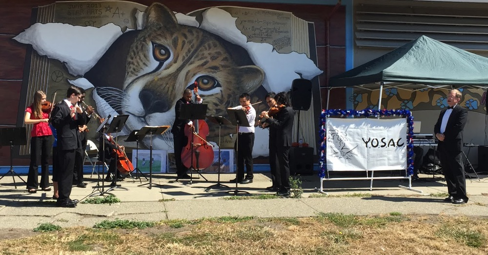 2015 YOSAC Horizons Ensemble Group and Conductor Bill Harrington performing at the South Hayward 4th of July Celebration, Chavez Middle School.