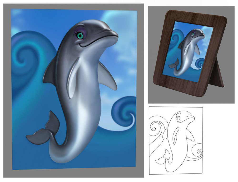 framed_dolphin.jpg