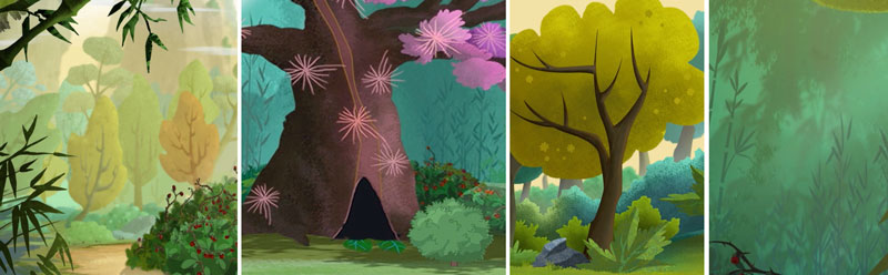 Season 1 trees and foliage