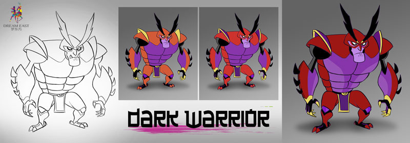 Dark Warrior color comps with revisions