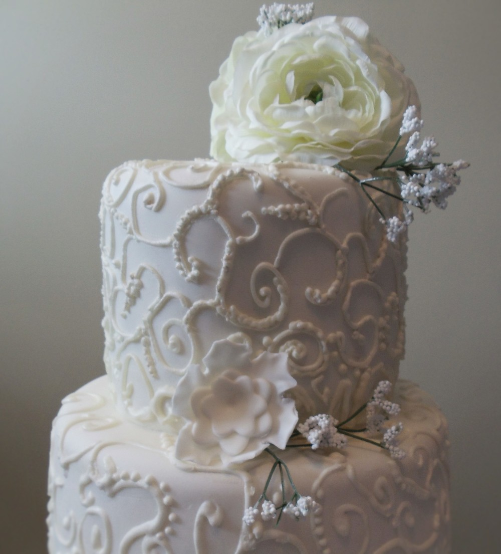 Traditional White Wedding Cake