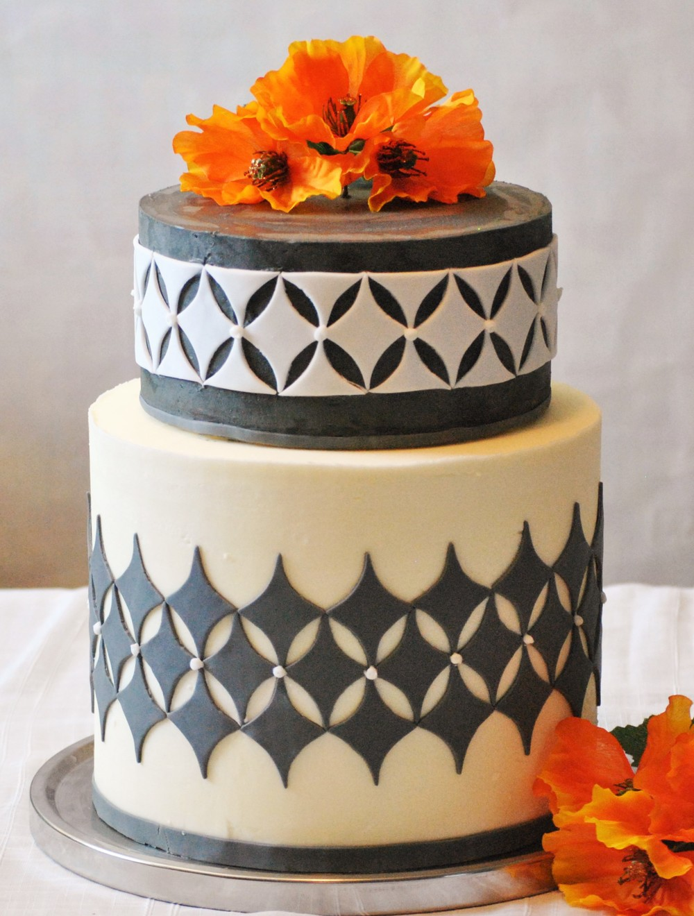 Black and White Birthday Cake Richmond, VA