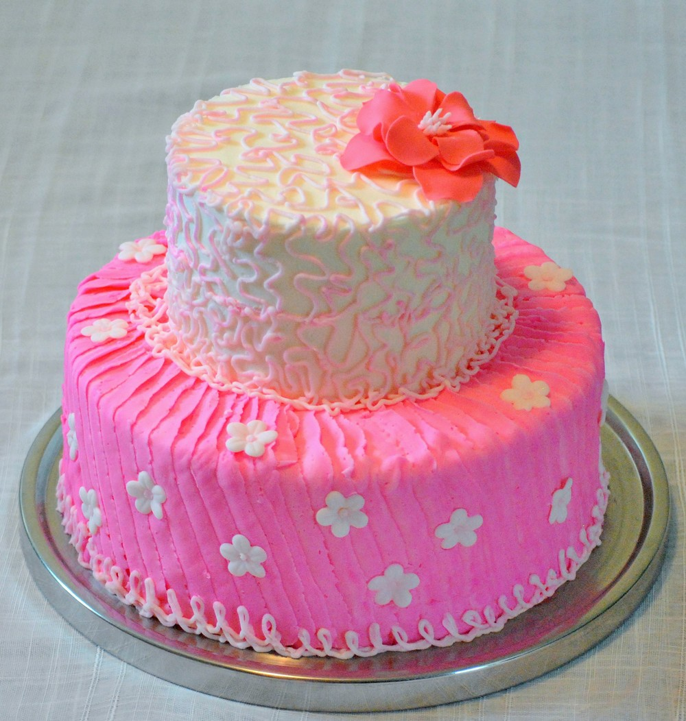 Pink Princess Theme Birthday Cake