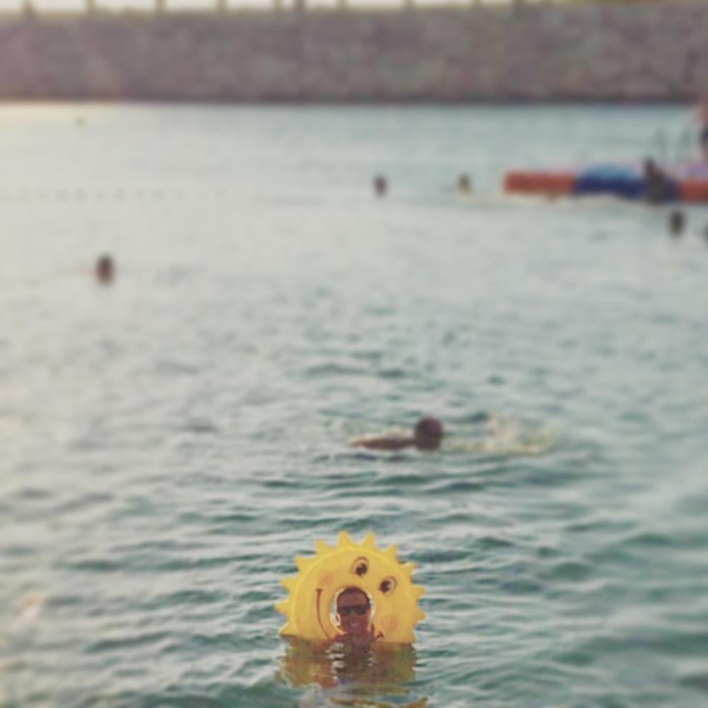 Floating in the Mediterranean. #noproblem