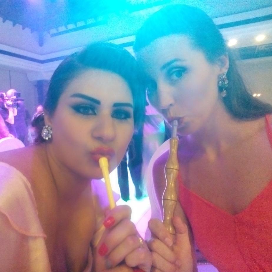 Argileh (shisha) with Lisa #ducklips