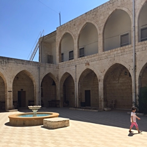 Visiting a monastery on the cliffs south of Tripoli