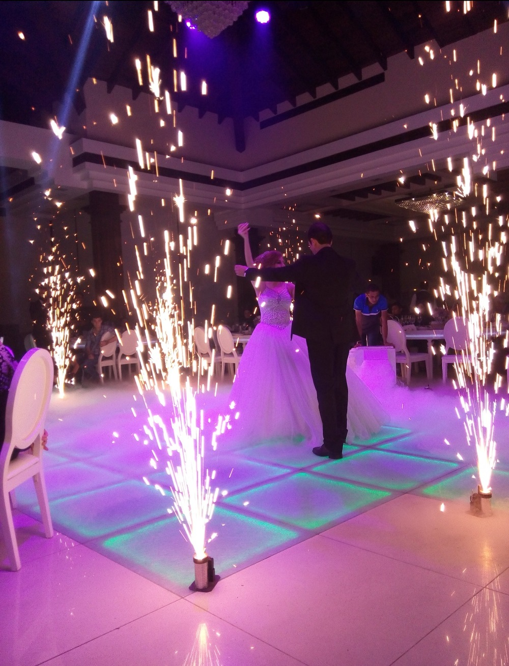 Pyrotechnics, smoke machine and LED lights? NO PROBLEM.