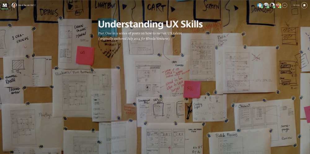 I think this article would give you a better understanding of what UX designer is as opposed to visual designer and user researchers. Please try to read it before the class.
