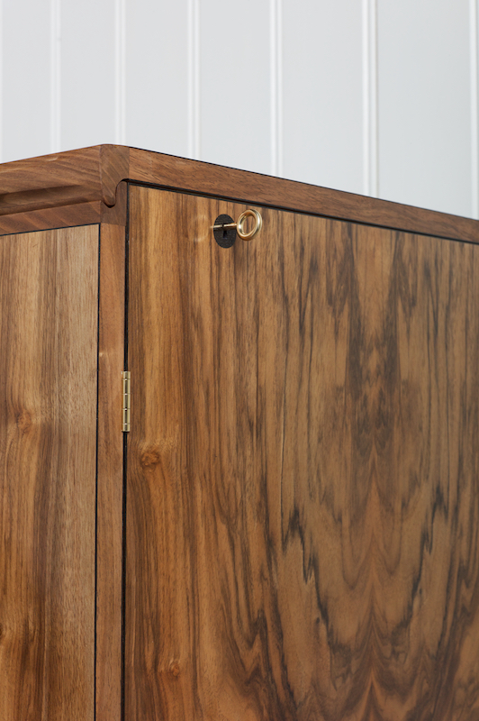 Petrel furniture whisky cabinet in walnut