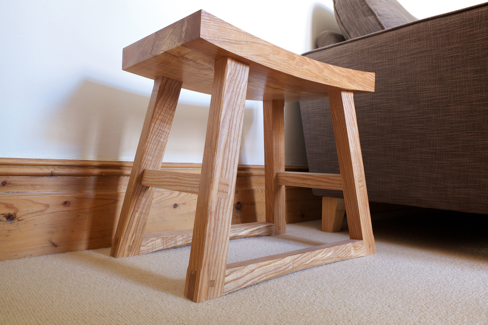 handmade petrel furniture, stool, olive ash