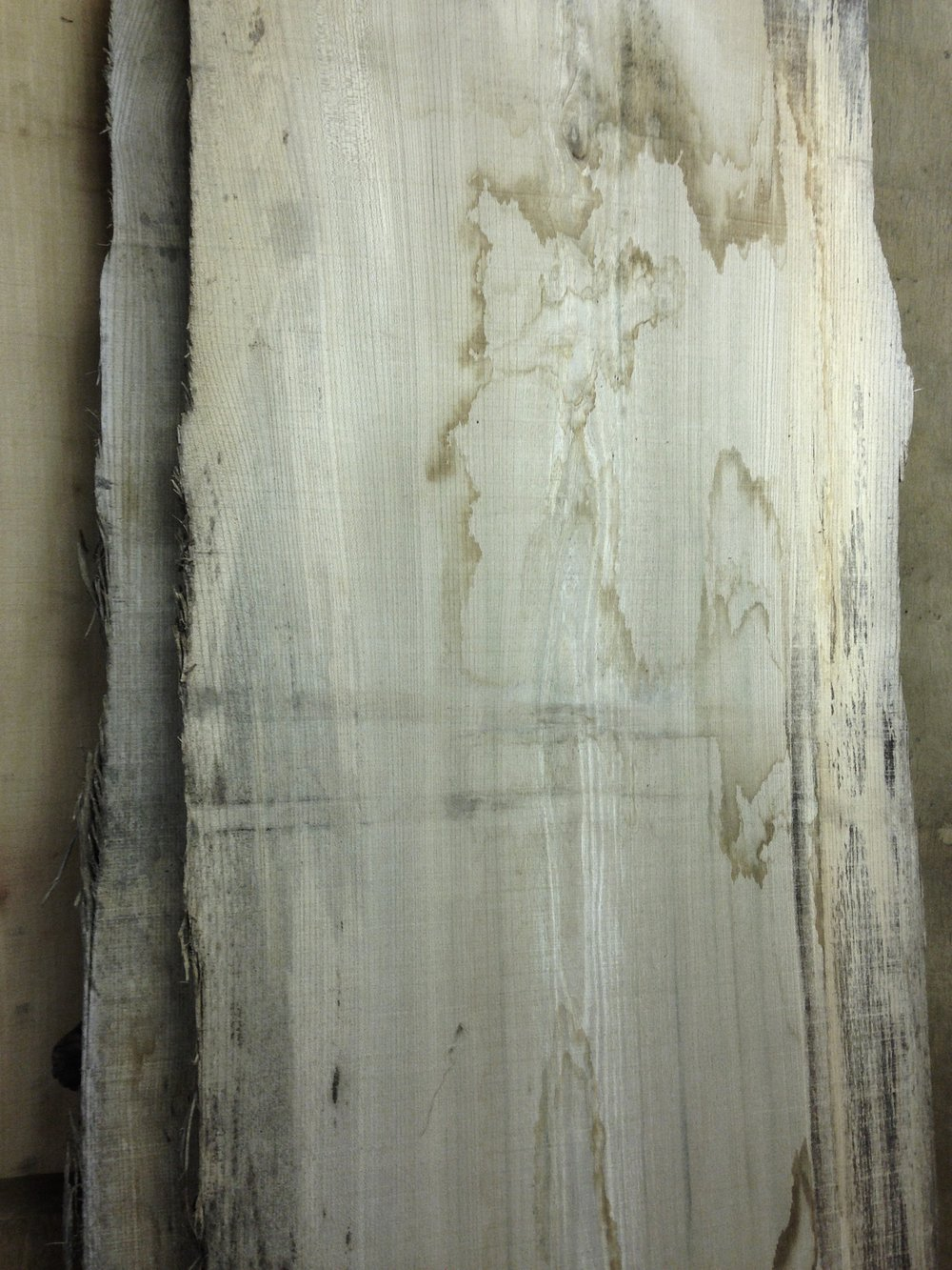 Close up of stunning English elm board