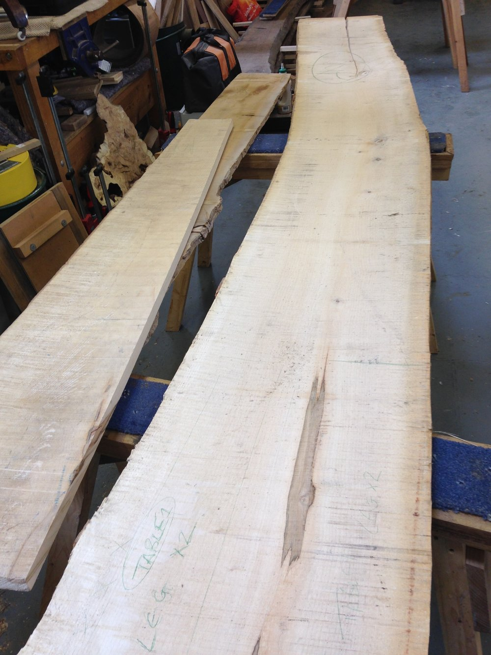Your board of English sycamore with lovely ripple