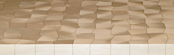 Marquetry example - irregular tessellation