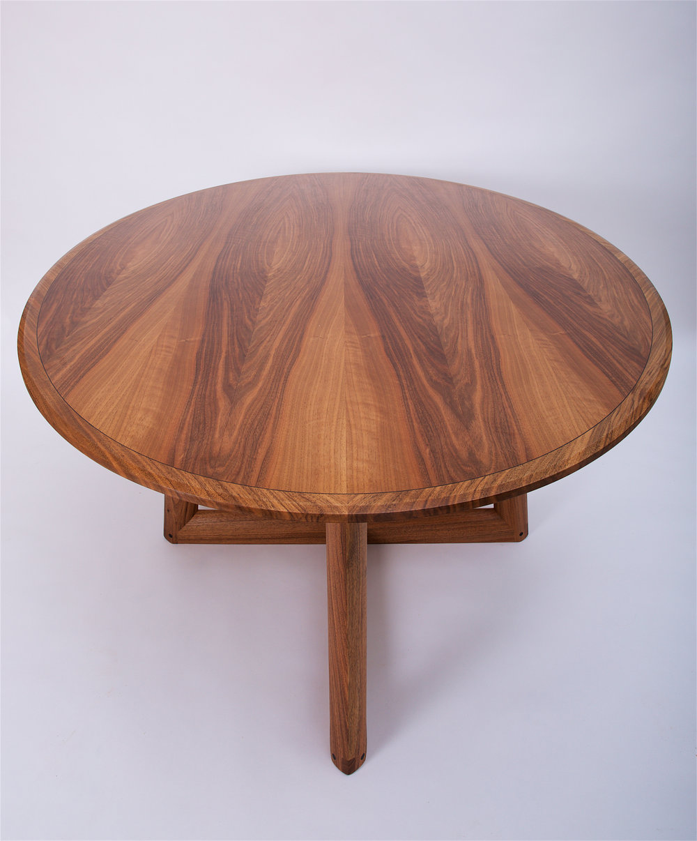 Petrel furniture ellipse dining table in English walnut