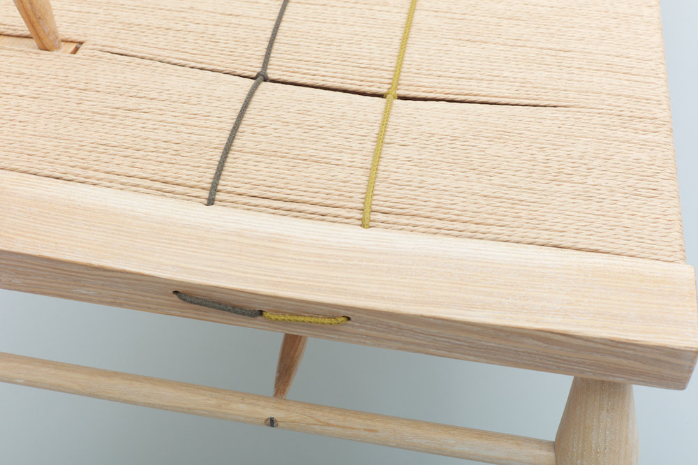 Petrel furniture woven bench waxed cord detail.jpg