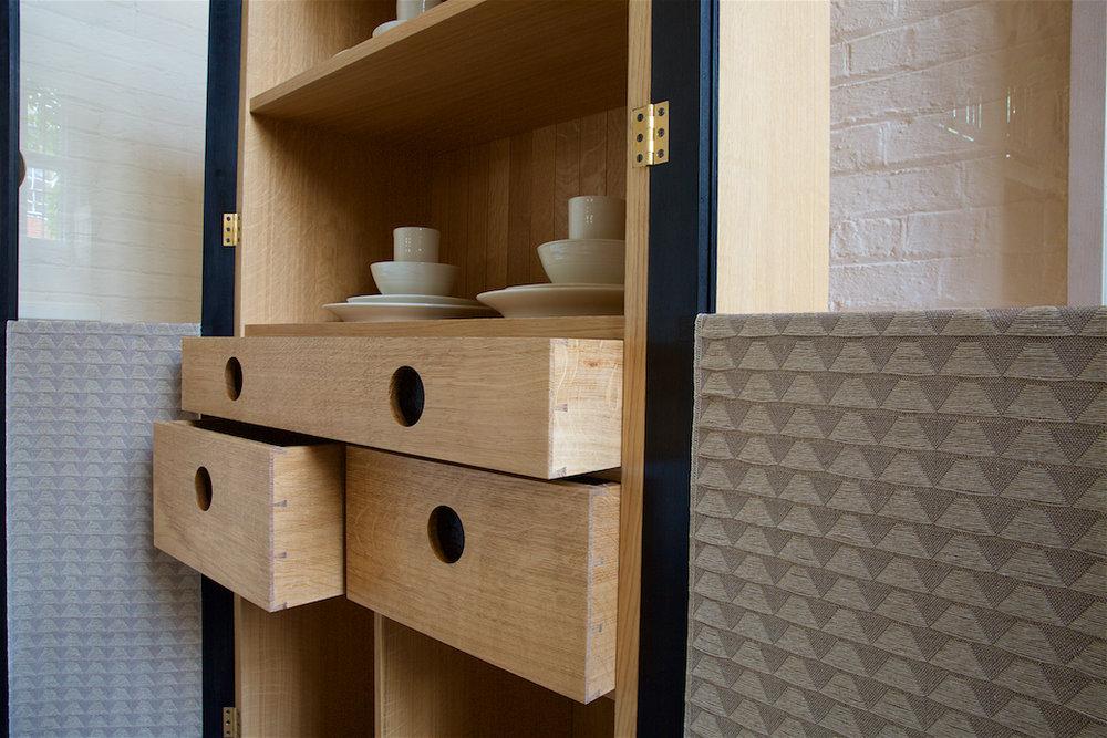 Petrel China cabinet drawer detail