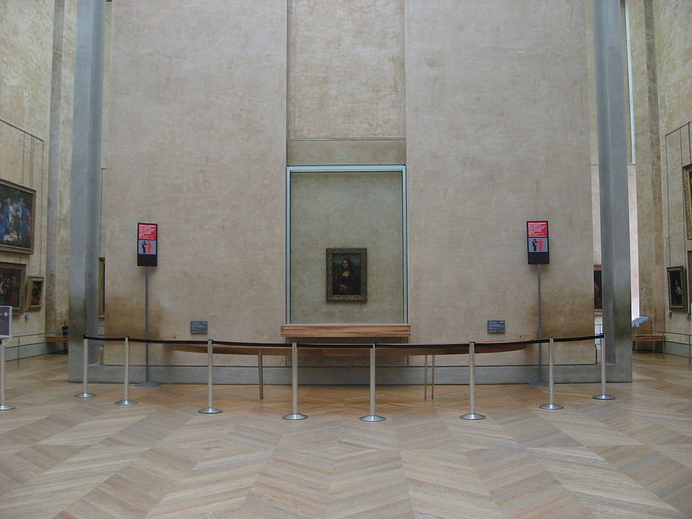 Mona Lisa  in situ