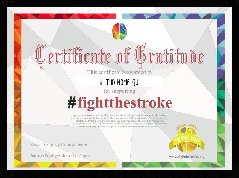 Dona almeno 50€ e ricevi un certificato di Gratitudine personalizzato direttamente nella tua inbox!