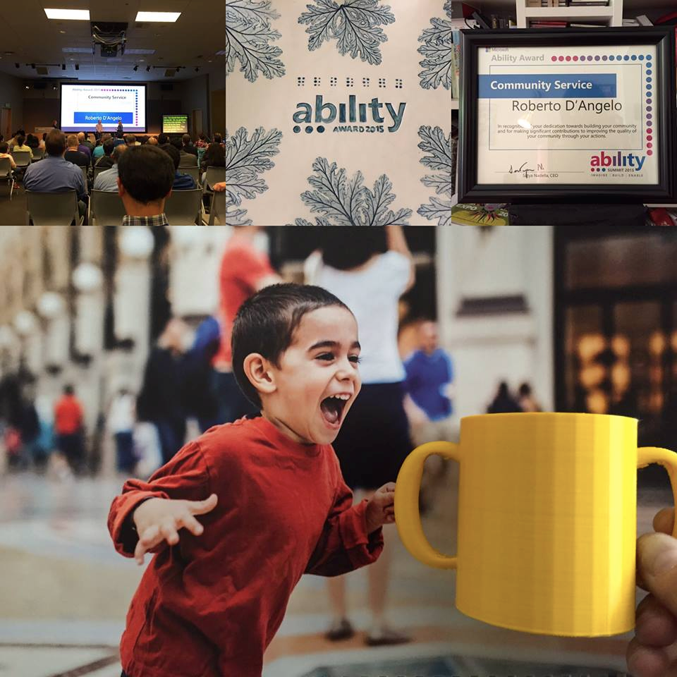 2015 Microsoft Ability Award for Community Service