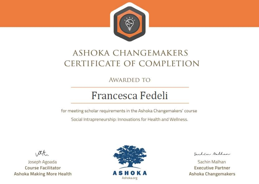 2016 Ashoka Changemakers' Course on Social Intrapreneurship: Innovation for Health and Wellness