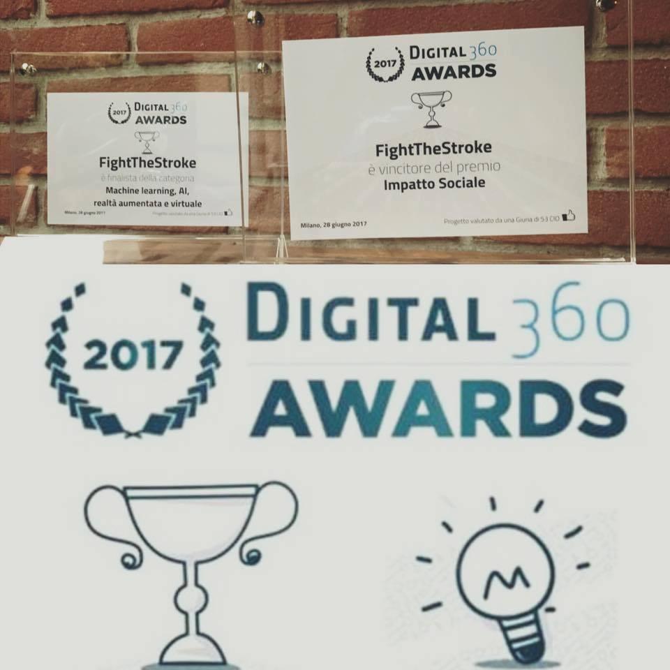 Digital360Awards  2017: Mirrorable vince il premio della giuria popolare, il premio per l'impatto sociale ed è finalista nella categoria machine Learning, AI, realtà aumentata e virtuale
