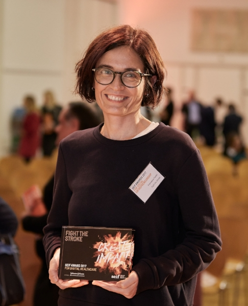 FightTheStroke is the winner of the  Seif Award for Digital Healthcare , supported by Johnson & Johnson and presented at the award ceremony in Zurich, on 2 October 2017