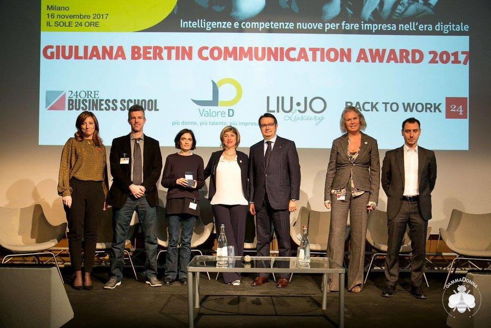 Giuliana Bertin Communication Award 2017 -  http://www.gammaforum.it/gammadonna