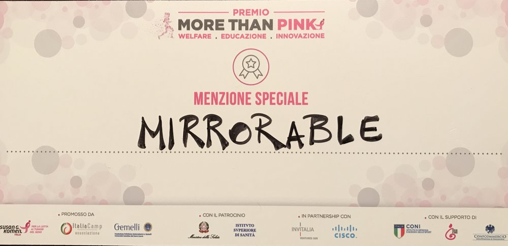 More Than Pink - Menzione Speciale per Mirrorable