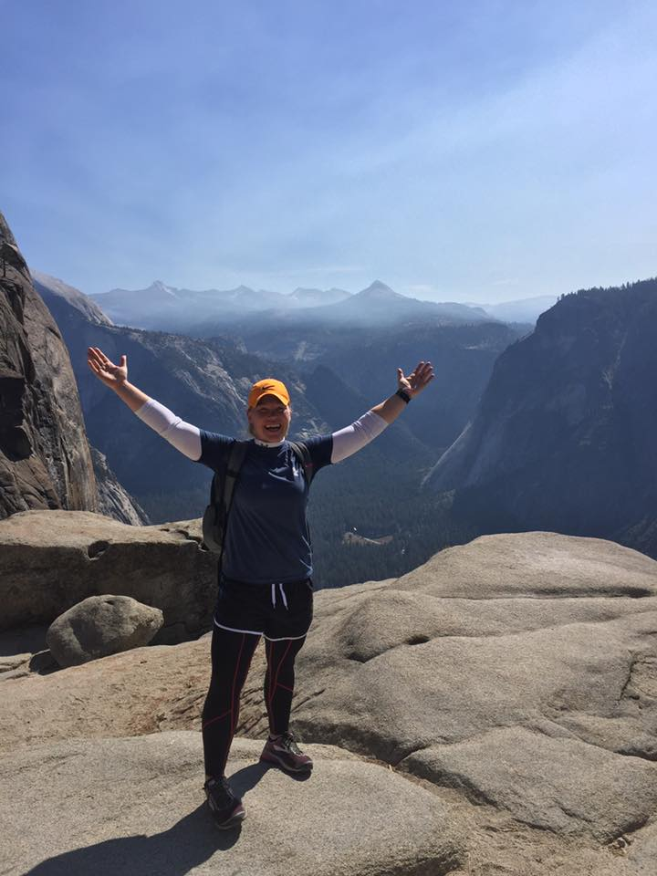 At the top of the Yosemite Upper Falls Trail. I discovered what true hiking is!