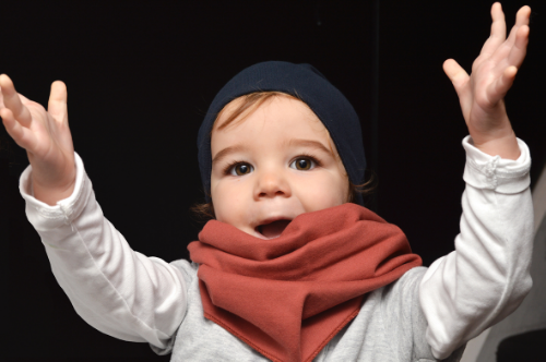 Clemence Gray Label beanie. Organic apparel for the little minimalist. Bon Tot