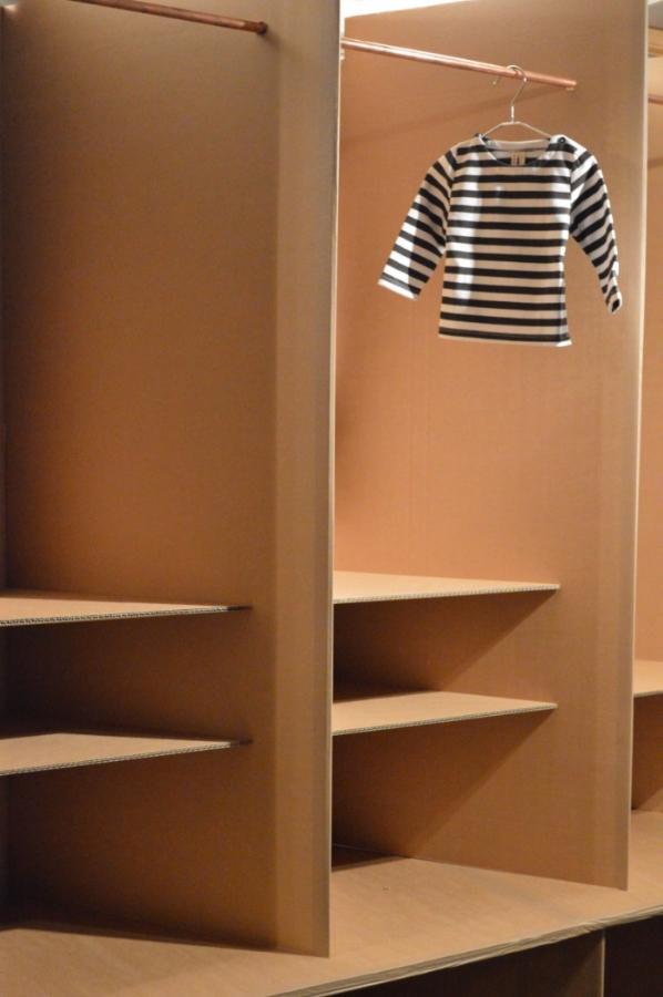 Bon Tot Cardboard Pop Up Shop