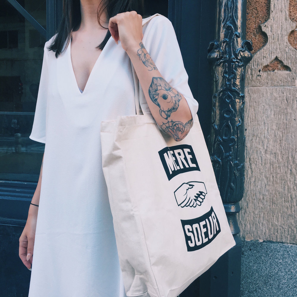 MERE SOEUR TOTE BAGS, T-SHIRTS AND SWEATSHIRTS, IN BABY AND MAMA SIZES