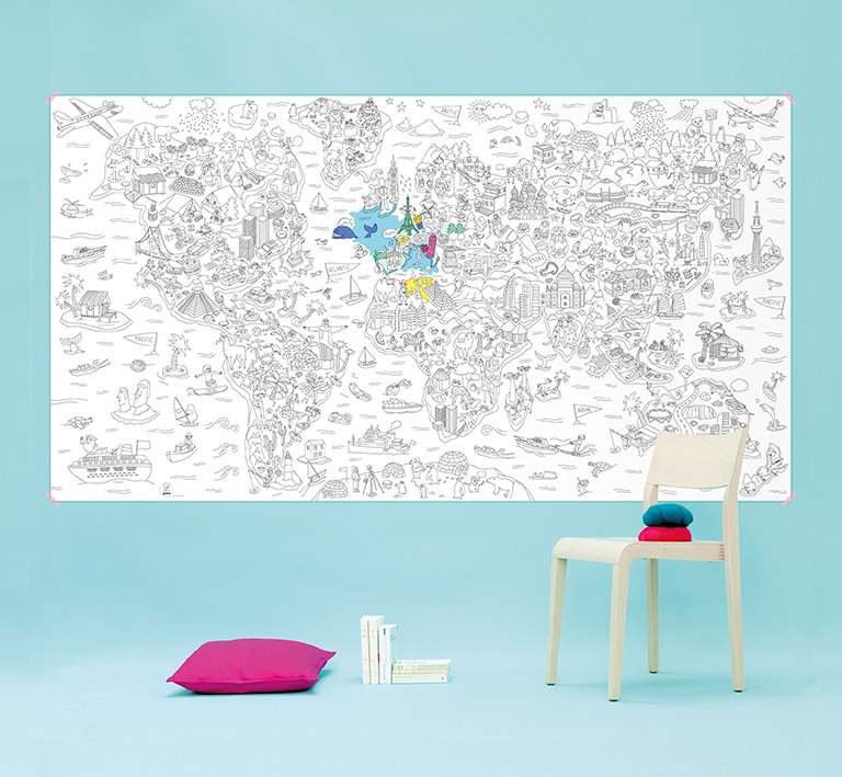 XXL COLOURING PRINT FROM THE AMAZING OMY. CHECK OUT THEIR RANGE FOR PLACEMATS, PENS AND OTHER GREAT GIFTS