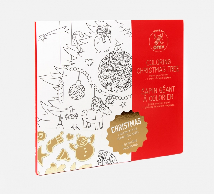 OMY COLOURING XMAS TREE WITH STICKERS IS THE PERFECT ADVENT GIFT