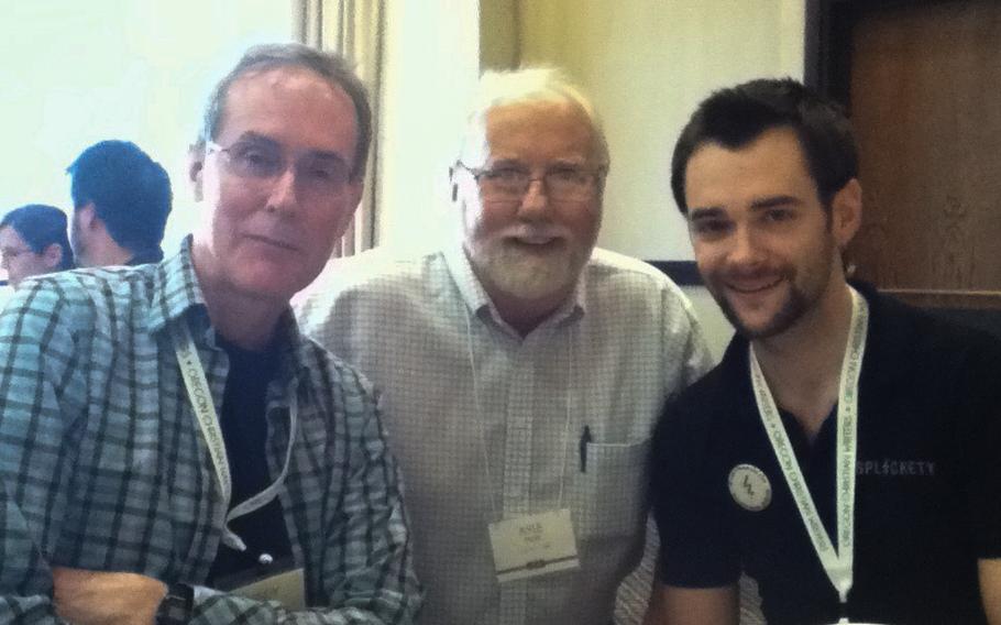 Randy Ingermanson, Kyle Pratt and Ben Wolf at OCW 2014