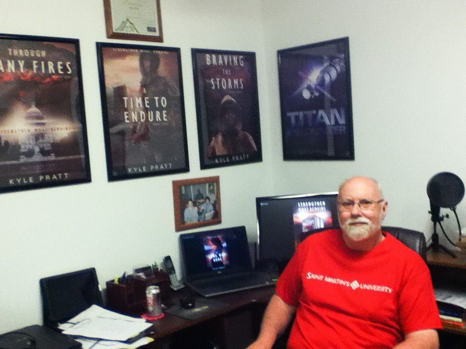 Kyle Pratt in his office